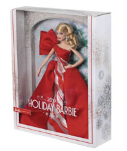Image: Barbie 2019 Holiday Collection Doll Case  (Caucasian version) - Mattel Toys