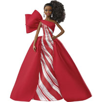 Image: Barbie 2019 Holiday Collection Doll Case  (African American version) - Mattel Toys