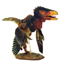 Image: Beasts of Mesozoic Raptor Series Action Figure: Zhenyuanlong Brown  (1/6 scale) - Creative Beast Studio LLC