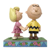 Image: Charlie Brown Figure: Charlie Brown and Sally  - Enesco Corporation