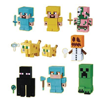 Image: Minecraft Buildable Eraser Figures 24-Piece Display  - Ucc Distributing