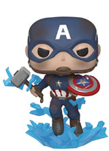 Image: Pop! Marvel Vinyl Figure: Avengers Endgame - Captain America  (w/Broken Shield & Mjolnir) - Funko