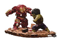 Image: Avengers Age of Ultron Statue: EA-021 Hulkbuster vs. Hulk  - Beast Kingdom Co., Ltd