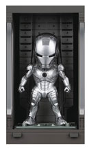 Image: Iron Man 3 Mea-015 Figure: Iron Man Mk II  (w/Hall of Armor) - Beast Kingdom Co., Ltd