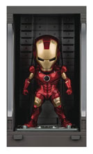 Image: Iron Man 3 Mea-015 Figure: Iron Man Mk III  (w/Hall of Armor) - Beast Kingdom Co., Ltd
