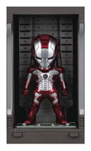 Image: Iron Man 3 Mea-015 Figure: Iron Man Mk V  (w/Hall of Armor) - Beast Kingdom Co., Ltd