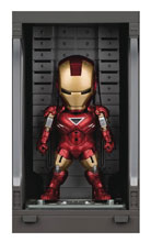 Image: Iron Man 3 Mea-015 Figure: Iron Man Mk VI  (w/Hall of Armor) - Beast Kingdom Co., Ltd