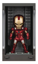 Image: Iron Man 3 Mea-015 Figure: Iron Man Mk VII  (w/Hall of Armor) - Beast Kingdom Co., Ltd