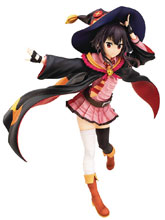 Image: Konosuba Suburashii PVC Figure: Megumin  (School Uniform version) (1/7 scale) - Chara-Ani
