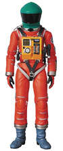 Image: 2001 A Space Odyssey MAFEX Action Figure: Space Suit  (Orange w/Green Helmet) - Medicom Toy Corporation