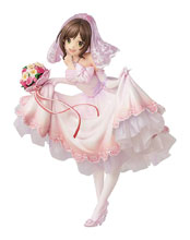 Image: Idolmaster CG PVC Figure: Miku Maekawa  (Dream Bride version) (1/7 scale) - Knead