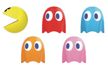 Image: Pac-Man Cable Mascots 6-Piece Display  - Good Smile Company