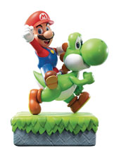 Image: Super Mario Resin Statue: Yoshi & Mario  - First 4 Figures