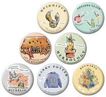 Image: Harry Potter Whimsy 144-Piece Button Display  - Ata Boy