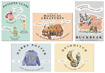 Image: Harry Potter Whimsy 36-Piece Magnet Assortment  - Ata Boy