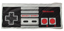 Image: Nintendo Shaped Fleece Pocket Throw: System Controller  - Bioworld Merchandising