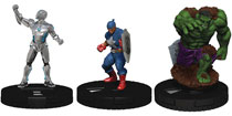 Image: Marvel Heroclix Captain America and The Avengers Booster Brick  - Wizkids/Neca