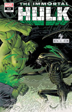 Image: Immortal Hulk #43 (variant Marvel vs. Alien cover - Shalvey) - Marvel Comics