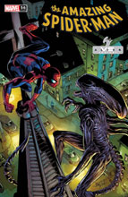Image: Amazing Spider-Man #56 (variant Marvel vs. Alien cover - Bagley) - Marvel Comics