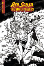 Image: Red Sonja: The Superpowers #1 (incentive 1:15 cover - Federici B&W) - Dynamite