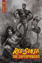 Image: Red Sonja: The Superpowers #1 (incentive 1:15 cover - Parrillo B&W) - Dynamite