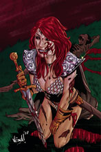 Image: Red Sonja: The Superpowers #1 (incentive 1:20 cover - Federici virgin) - Dynamite
