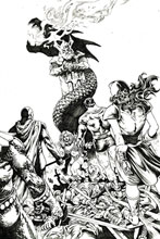 Image: Red Sonja: The Superpowers #1 (incentive 1:30 cover - Lau B&W virgin) - Dynamite