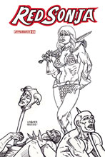 Image: Red Sonja Vol. 05 #23 (incentive 1:15 cover - Linsner B&W) - Dynamite