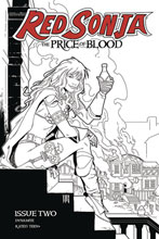 Image: Red Sonja: Price of Blood #2 (incentive 1:15 cover - Geovani B&W) - Dynamite
