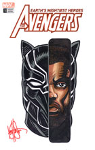 Image: Avengers #1 (DFE variant cover - Chadwick Boseman Haeser sketch) - Dynamic Forces