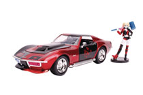 Image: DC Vehicle: 1969 Corvette Stingray  (w/Harley Quinn) (1/24 scale) - Jada Toys, Inc