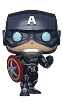 Image: Pop! Games Vinyl Figure: Avengers Game - Captain America  (Stark Tech Suit) - Funko