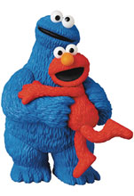 Image: Sesame Street UDF Series 2 Figure: Elmo & Cookie Monster  - Medicom Toy Corporation