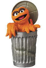 Image: Sesame Street UDF Series 2 Figure: Oscar the Grouch Original Orange  - Medicom Toy Corporation