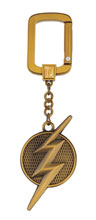 Image: DC Logo Pewter Key Ring: The Flash  - Monogram Products