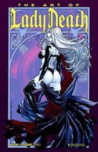 Image: Art of Lady Death Vol. 01 HC  (Wizard World Chicago) (signed) - Boundless Comics
