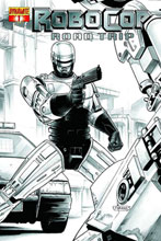 Image: Robocop: Road Trip #1 (10-copy Neves B&W incentive cover) - D. E./Dynamite Entertainment