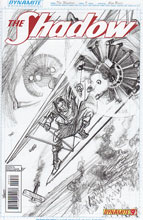 Image: Shadow #9 (25-copy Ross sketch incentive cover) - D. E./Dynamite Entertainment