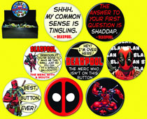 Image: Deadpool 144-Piece Button Assortment  -