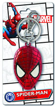 Image: Pewter Keyring: Spider-Man Head Color  -
