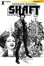 Image: Shaft #1 (Sienkiewicz b&w variant incentive cover - 01081) (10-copy) - Dynamite
