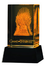 Image: Game of Throne: 3D Crystal Iron Throne with Illumination  - Dark Horse Comics