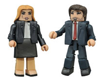 Image: X-Files Minimates: Fox Mulder / Dana Scully  -