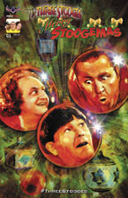 Image: Three Stooges: Merry Stoogemas #1 (Painted cover - Wheatley)  [2016] - American Mythology Productions