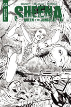 Image: Sheena Queen of the Jungle #4 (cover F incentive - Santucci B&W) (20-copy) - Dynamite