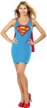 Image: DC Tank Dress: Superman Cape  (L) - Rubies Costumes Company Inc