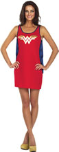 Image: DC Tank Dress: Wonder Woman Cape  (M) - Rubies Costumes Company Inc
