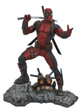 Image: Marvel Premier Collection Resin Statue: Deadpool  - Diamond Select Toys LLC