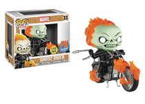 Image: POP! Rides Marvel Vinyl Bobble-Head 033: Ghost Rider  (Previews Exclusive) - Funko