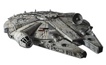 Image: Star Wars Model Kit: Ep4 - A New Hope Millennium Falcon  (1/72-scale) - Bandai Hobby